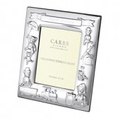 Sterling Silver Christening Bear Rectangle Frame (27849)