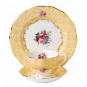 100 Years 1990 Bouquet Teacup, Saucer and Plate (27997)