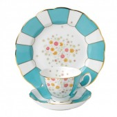 100 Years 1930 Mint Deco Teacup, Saucer and Plate (27999)