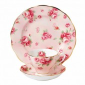 100 Years 1980 Rose Blush Teacup, Saucer and Plate (28000)