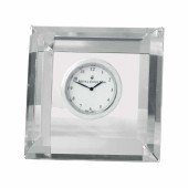 Radiance Faceted Square Clock (28220)