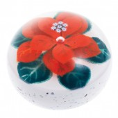 Winter Poinsettia Paperweight (28259)