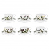 Botanic Garden Traditional Breakfast Cup & Saucer Set of 6 Assorted (28271)