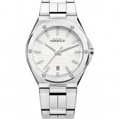 Mens Watches Mens Stainless Steel Riveted White Dial (28541)