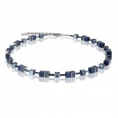Geo Cube Navy Necklace (28572)