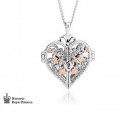 Eternal Love Silver and 9ct Rose Gold Kensington Necklace (28897)