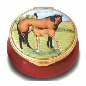 Amazing Animals Mare and Foal Enamel Box (28939)