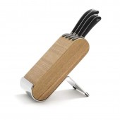 Signature Kitchen Knives 5 Piece Ash Knife Block Set (28954)