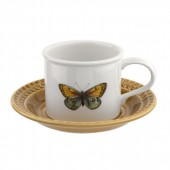 Botanic Garden Harmony Breakfast Cup and Saucer Amber (29148)