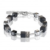 Geo Cube Black Onyx and Silver Bracelet (29291)