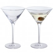 Wine and Bar Essentials Set of 2  Martini Glasses (3122)