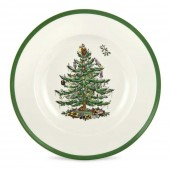 Christmas Tree 23cm Rimmed Soup Bowl (4401)
