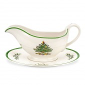 Christmas Tree Gravy Boat & Stand (4402)