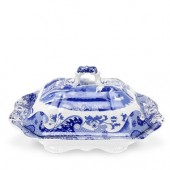 Blue Italian Covered Vegetable Dish (4425)