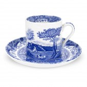 Blue Italian Small Coffee Cup and Saucer (4427)