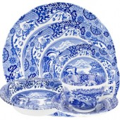 Blue Italian 24 Piece Dinner Set (443)