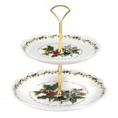 Holly And Ivy 2 Tier Cake Stand (4719)