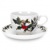 Holly And Ivy Tea Cup and Saucer (4735)