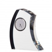 Dartington Crystal 11cm Crescent Clock (6465)