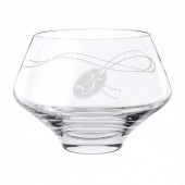 Dartington Crystal Silver 25th Anniversary Bowl (6470)