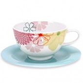 Crazy Daisy Breakfast Cup and Saucer (6660)