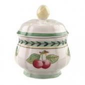 French Garden Fleurence Covered Sugar Bowl (6993)