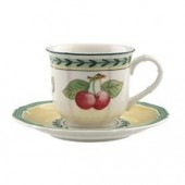 French Garden Fleurence Espresso Cup and Saucer (7000)