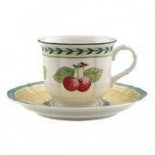 French Garden Fleurence Coffee Cup and Saucer (7003)