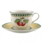 French Garden Fleurence Breakfast Cup and Saucer (7004)