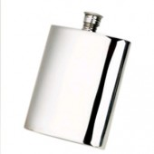 Pewter 6oz Plain Hip Flask (7355)
