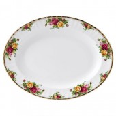 Old Country Roses 33cm Oval Serving Dish (7922)