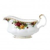 Old Country Roses Sauce Boat and Stand (7926)