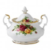 Old Country Roses Covered Sugar Bowl (7939)