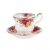 Old Country Roses Mocca Cup and Saucer (7974)