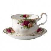 Old Country Roses Breakfast Cup and Saucer (7975)