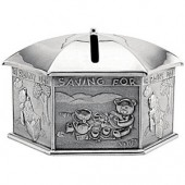 Royal Selangor Pewter Saving for Rainy Day Money Box (858)