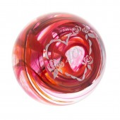 Caithness Glass Paperweights Ruby 40th Wedding Anniversary Paperweight (877)