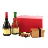 Drinking Gifts Mini Wines and Belgian Chocolates Gift Set (9026)