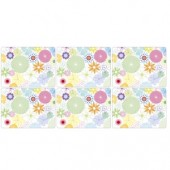 Crazy Daisy 6 Crazy Daisy Medium Placemats (9194)
