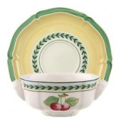 French Garden Fleurence Soup Cup and Saucer (9871)