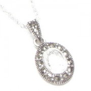 Marcasite and Cubic Zirconia Necklace (12454)