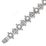 Marcasite and Fresh Water Pearl Bracelet (12821)
