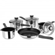 5 Piece Non stick Saucepan Set with Draining Lids (13595)