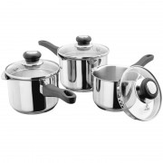 3 Piece Saucepan Set with Draining Lids (13596)