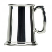 Pewter 1pt Heavy Devon Tankard (13947)
