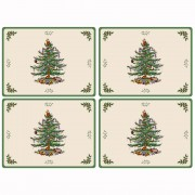 4 Christmas Tree Large Tablemats (14433)