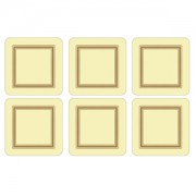 Cream Coasters Set of 6 (15358)
