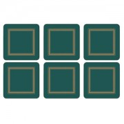 Emerald Green Coasters Set of 6 (15359)