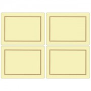 4 Classic Cream Large Tablemats (15362)