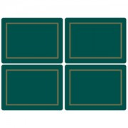 4 Classic Emerald Green Large Tablemats (15363)